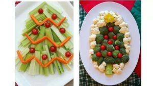 arbolitos de navidad con verduras