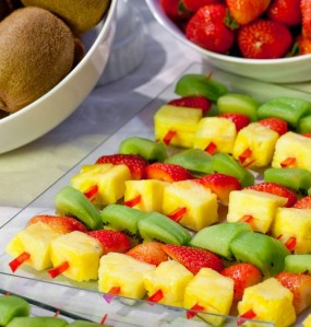 botana con frutas