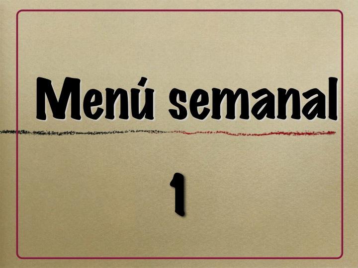 menú semanal 1