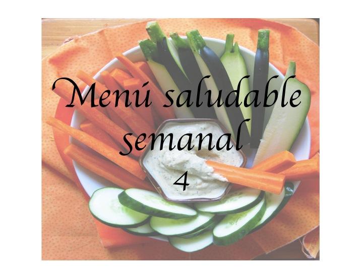Menú saludable semanal 4