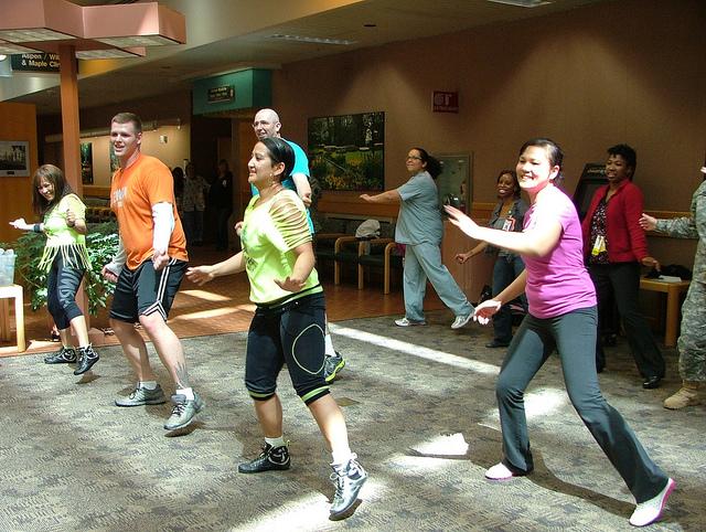 ejercicio en grupo