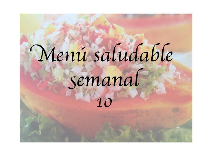 menú saludable semanal 10
