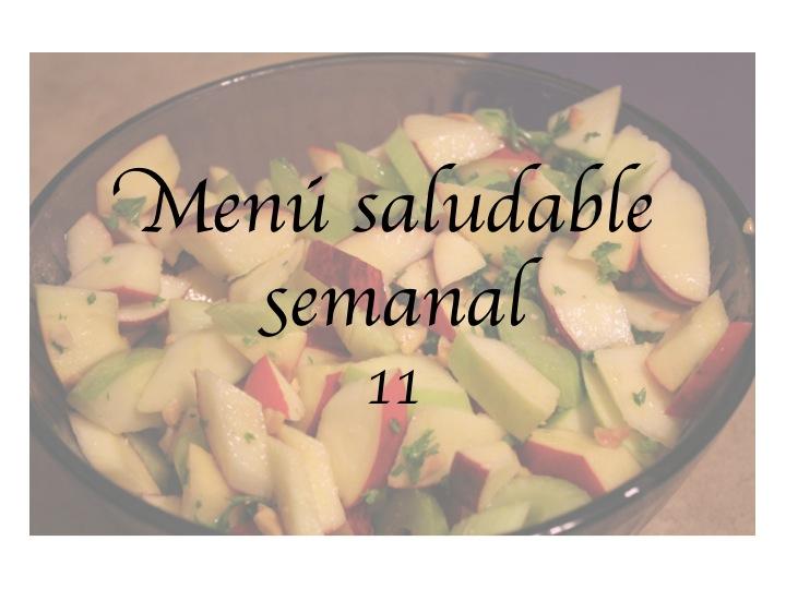 Menú saludable semanal 11