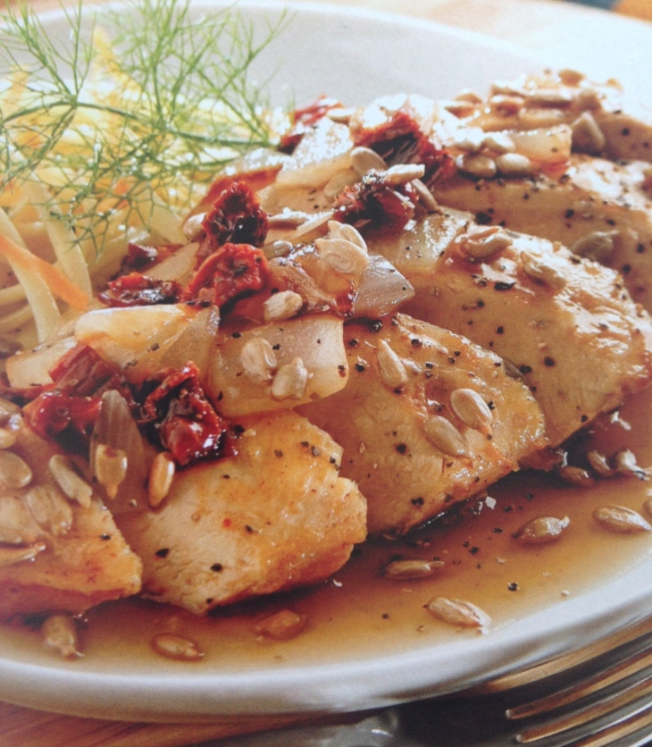 pollo con semillas de girasol