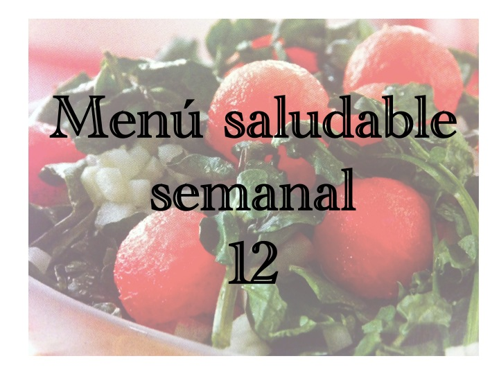 Menú saludable semanal12