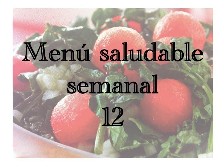 menú saludable semanal 12