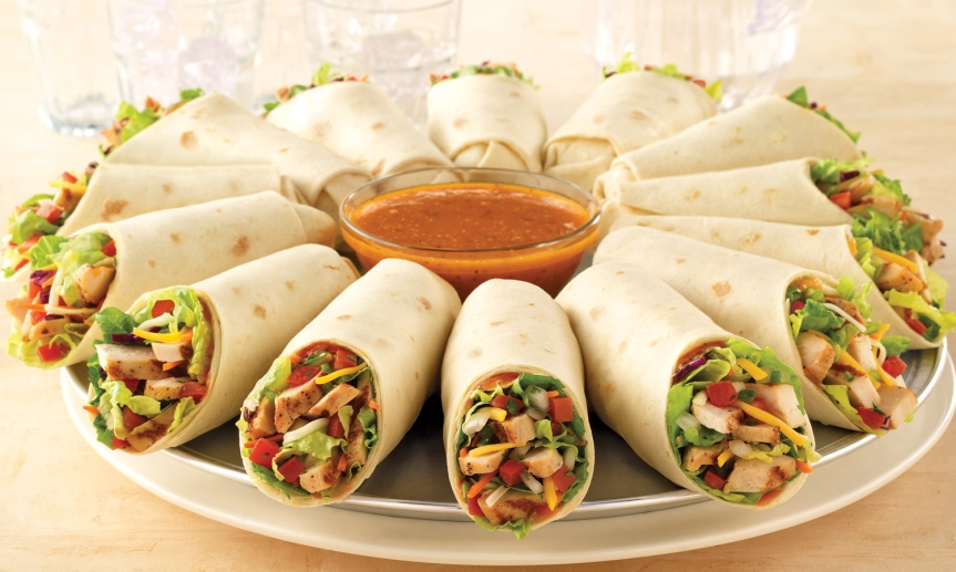 Rollitos de verduras con tortillas deharina
