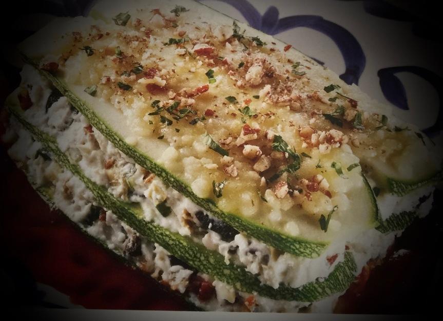 Lasagna sin gluten de calabacitas yrequesón