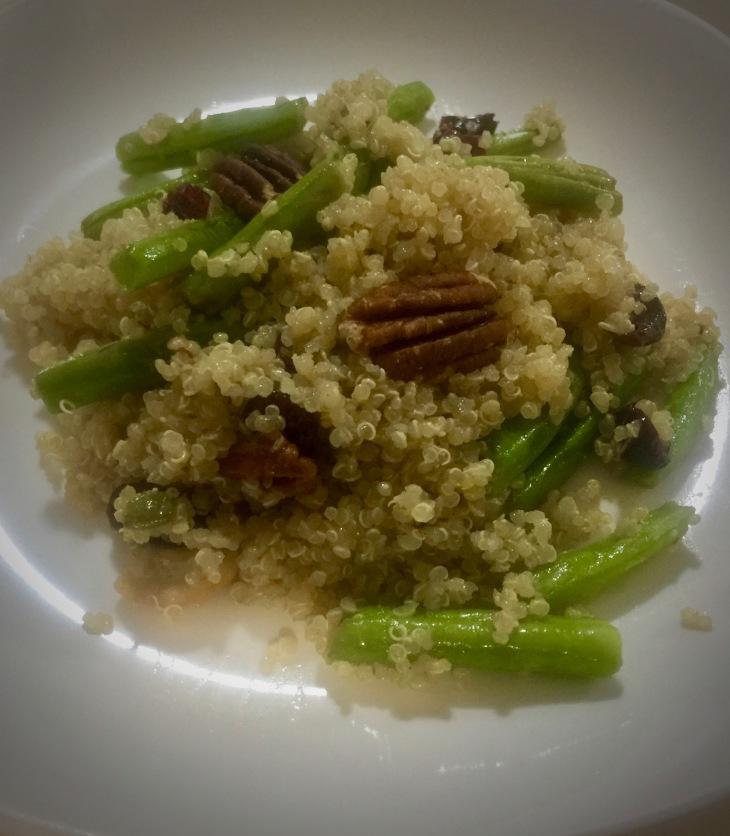 Ensalada de quinoa con ejotes