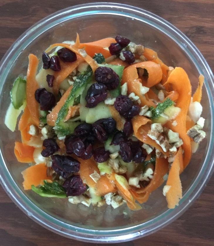 Ensalada de calabacita y zanahoria